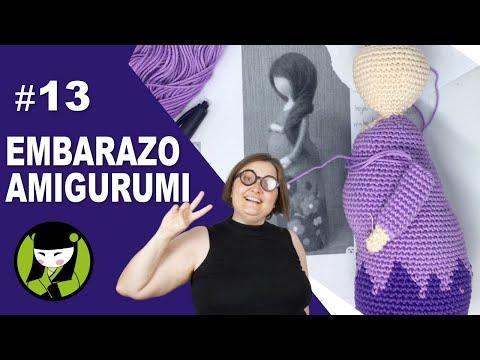 Señora EMBARAZADA TEJIDA A CROCHET 13 brazos amigurumi