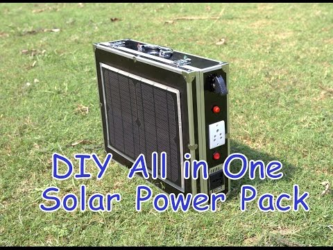 DIY All in One Portable Solar Power Pack || Low Cost Solar G