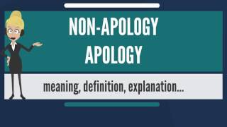 What is NON-APOLOGY APOLOGY? What does NON-APOLOGY APOLOGY mean? NON-APOLOGY APOLOGY meaning