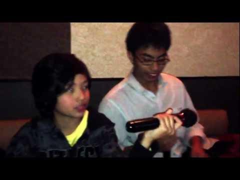 karaoke Aries and Joshua