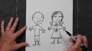 How to Draw Cartoon People Step-By-Step for Kids