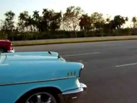 illegal races in cuba chevy 57 vs chevy 55