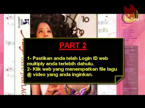 Tutorial download mp3 dan video Multiply.com
