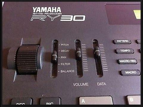 Yamaha RY30 drum machine menus and basics