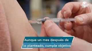 Mientras tanto, los Centros para el Control y la Prevención de Enfermedades, apuntan que el porcentaje de mayores de 18 años completamente inmunizados en EU es de 60.5%, que equivale a 156.3 millones de personas