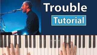 """Como tocar """"Trouble""""(Coldplay) - Piano tutorial y partitura"""