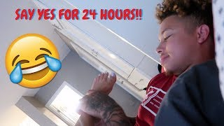 SAY YES TO EVERYTHING FOR 24 HOURS CHALLENGE!!