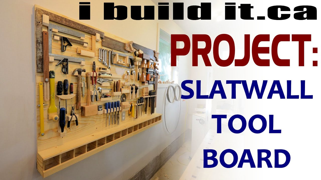 Making A Slatwall Tool Board - YouTube
