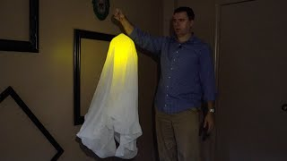 DIY $2 Glowing Ghost Halloween Decoration from the Dollar Tree - An Easy, Fun Craft