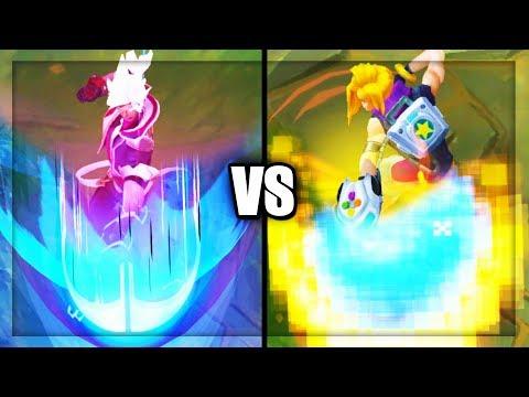 Battle Academia Ezreal vs Arcade Ezreal Legendary vs Epic Skins Comparison - League of Legends