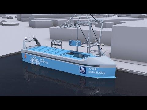 The world's first autonomous, zero emission container ship (long)