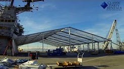 Classic Party Rentals - Structure Tent Installation on the USS Hornet