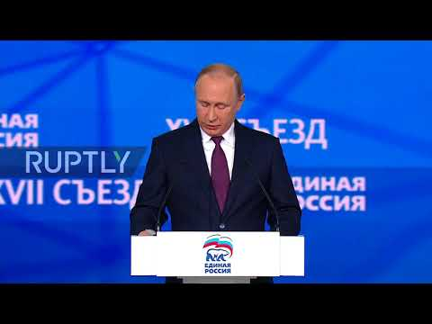 Russia: Putin makes a call for a 'young, forward-looking' nation at United Russia congress
