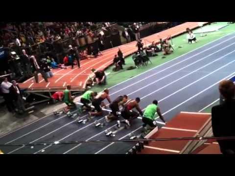 Asafa Powell Wins Mens 50m Dash In 5.64 At MSG 1/28/12