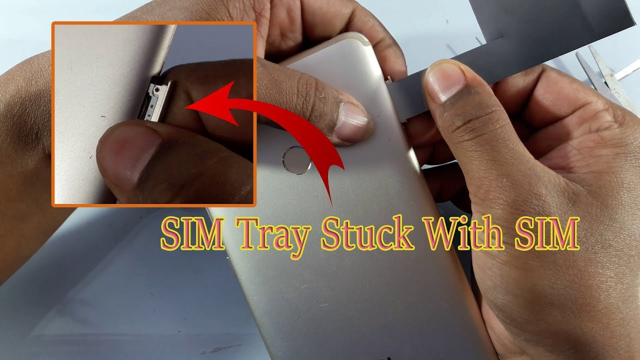 How to Remove Stuck SIM Tray With SIM Card?
