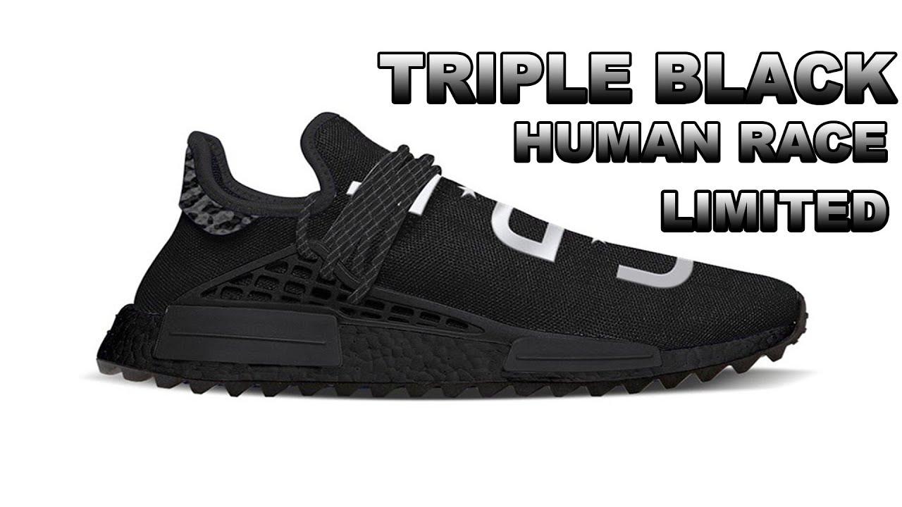 3401f86c8a88 MOST LIMITED Tripe Black Human Race NMD