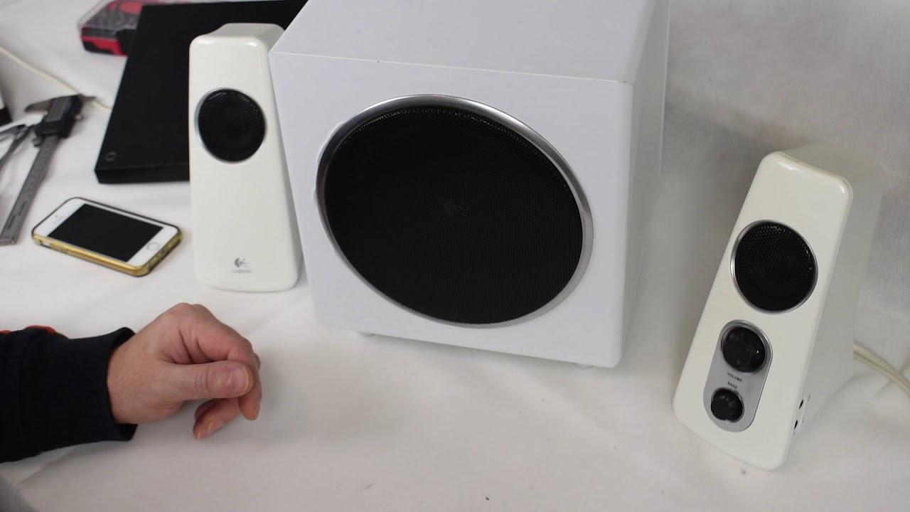 58870ee6320 Logitech z523 speaker system - A look inside - YouTube