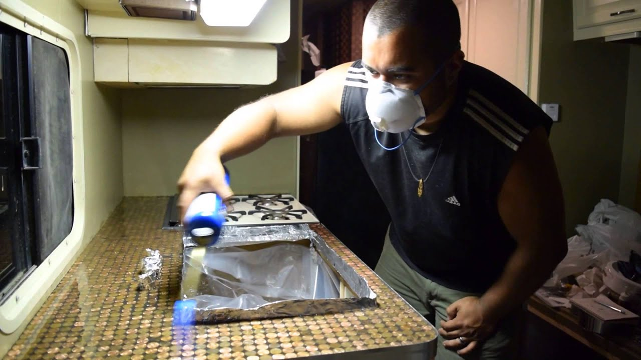 How to Make a Penny Countertop / RV Renovations! - YouTube