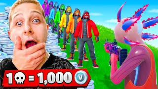 1 KILL = 1.000 V-BUCKS pour LUDO sur FORTNITE