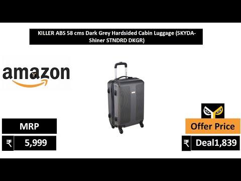 KILLER ABS 58 cms Dark Grey Hardsided Cabin Luggage SKYDA Shiner STNDRD DKGR