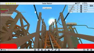 Roblox Theme Park Tycoon 2: Roblox Point Wooden Coaster [POV]
