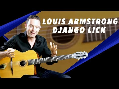 Louis Armstrong Inspired Django Lick - Gypsy Jazz Guitar Secrets Lesson
