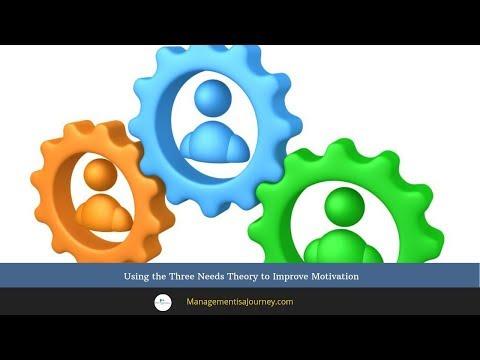 Using the Three Needs Theory to Improve Motivation