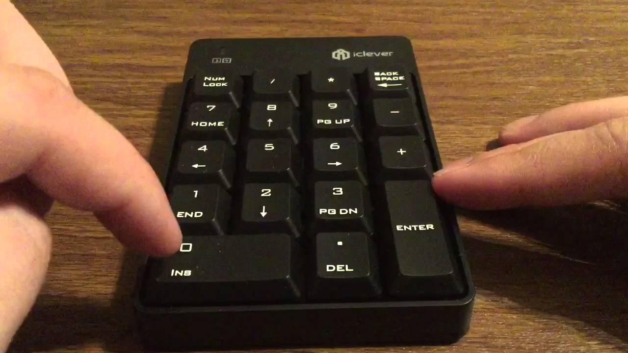 iclever wireless numeric keypad review with all essential keys youtube