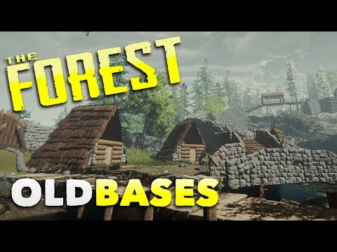 The Forest - OLD BASES TOUR! - Forest Gameplay
