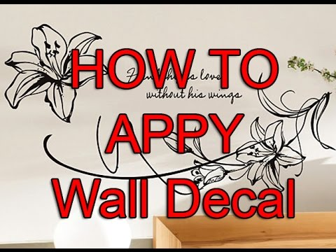 How to Apply Wall Decal Using transfer film  YouTube