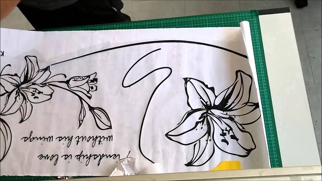 how to apply wall decal using transfer film youtube how to apply wall decal using transfer film