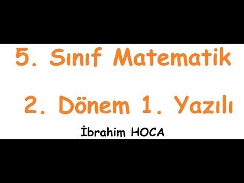 5. Sınıf Matematik Dersi 2. Dönem 1. Yazılı (örnek 3)
