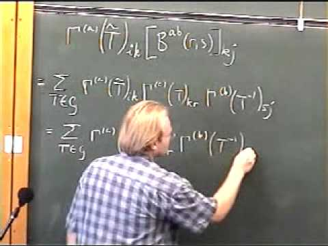 Group Theory, Robert de Mello Koch | Lecture 3 FULL