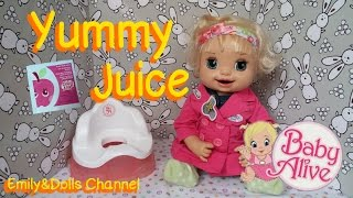 Baby Alive 2007 Learns To Potty Doll Eunice (Feeding Apple Juice & Potty Training)(Success OR Not?)