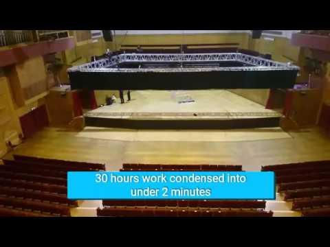 Transforming Fairfield Halls Concert Hall into a 'Theatre'