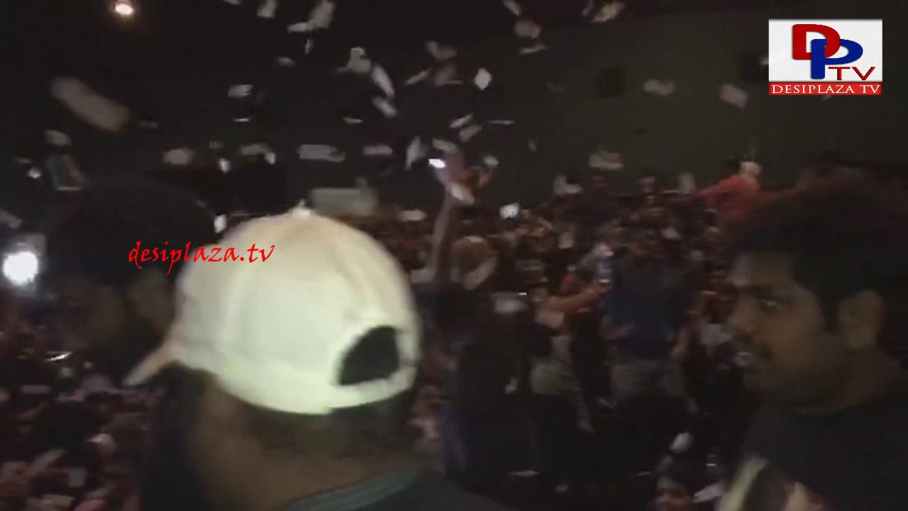 Inside theater Hungama in Dallas - Megastar Chiranjeevi Khaidi No 150 Release