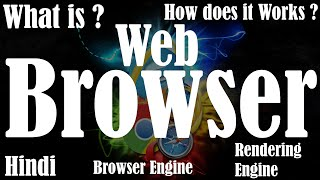 [Hindi] | What is web browser | How does the web browser works | Browser Engine | Rendering Engine
