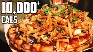MASSIVE Pizza Poutine Challenge (10,000+ Calories)