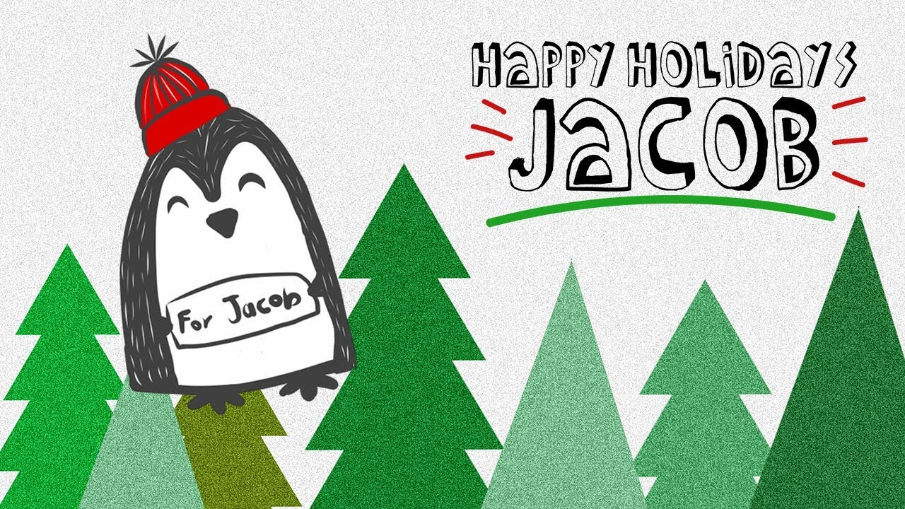 Holiday Cards for Jacob Thompson
