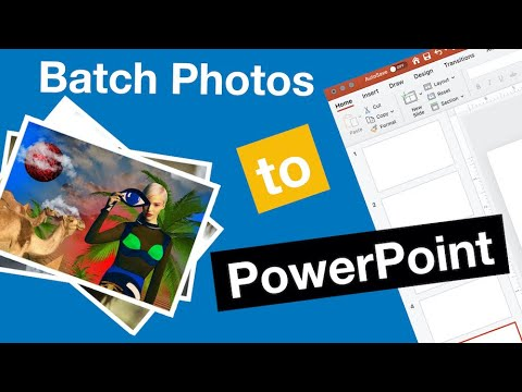 Import Batch Photos to Powerpoint Slideshow