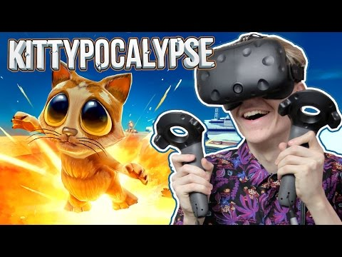 KICK-ASS VR STRATEGY GAME! | Kittypocalypse (HTC Vive Gamepl