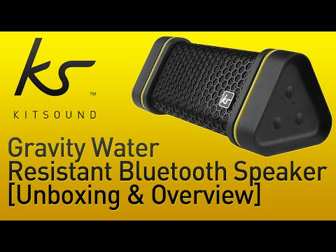 Kitsound Gravity Water Resistant Bluetooth Speaker [Unboxing & Overview]