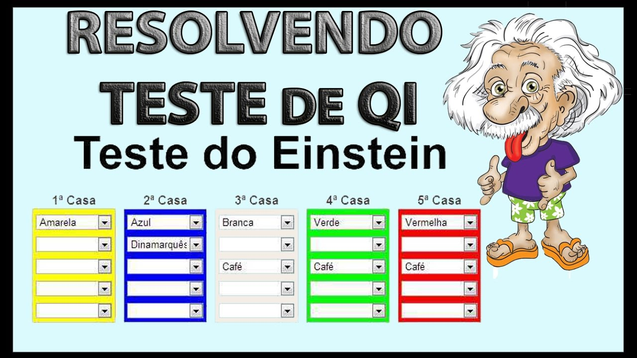 como resolver o teste de qi de einstein youtube. Black Bedroom Furniture Sets. Home Design Ideas