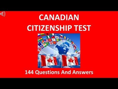 Canadian Citizenship Test 2016