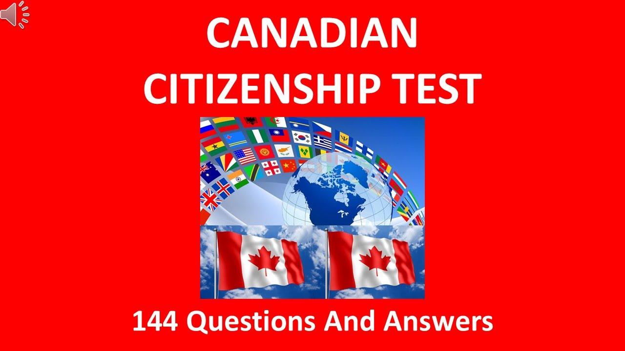 Canadian Citizenship Test 2016 - YouTube