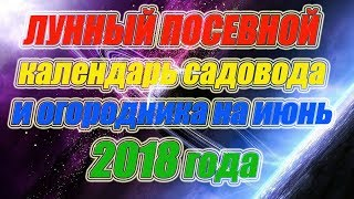 видео Благоприятные дни для посадки июне 2018