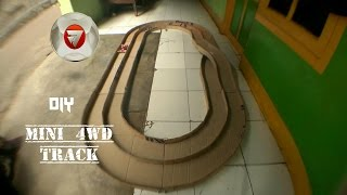 how to make mini 4WD track out of cardboard