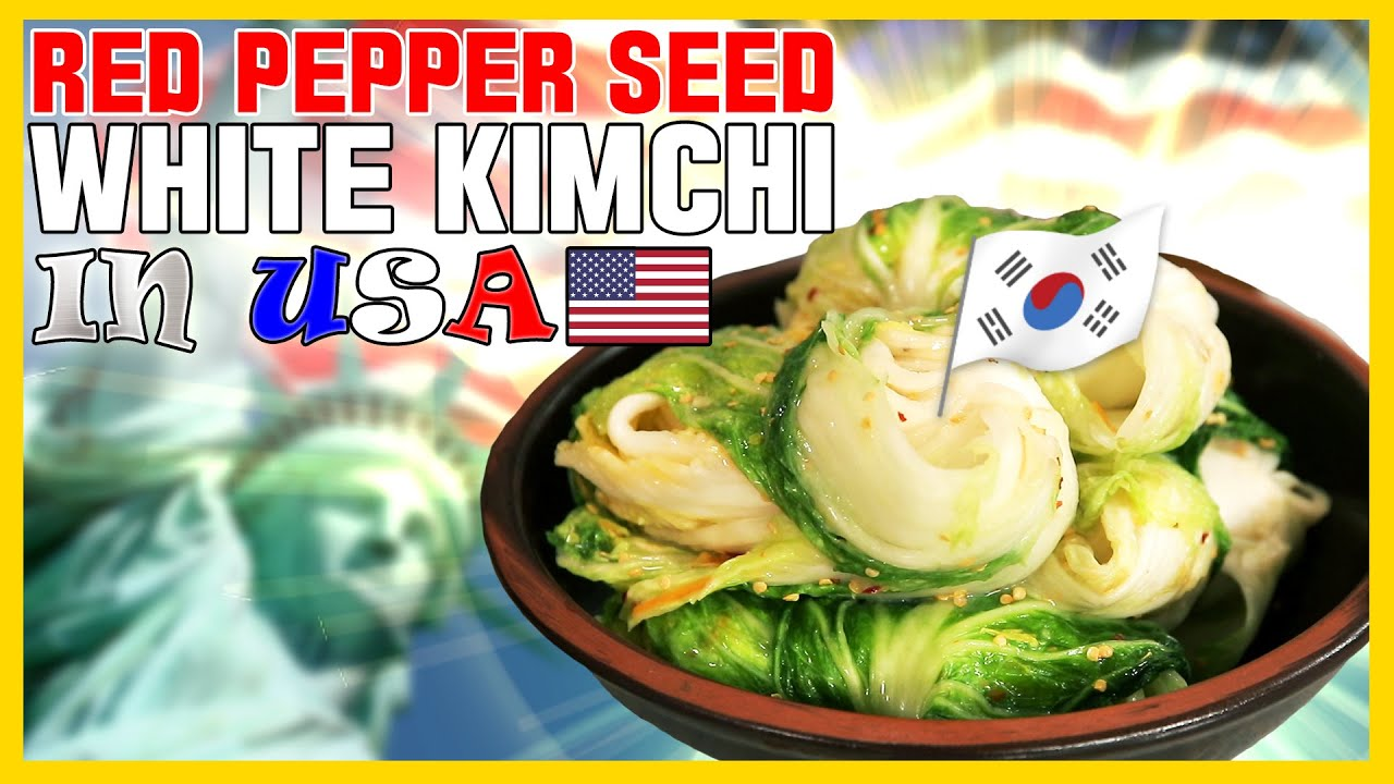 [Grandma Soonie's K-FOOD (Eng.sub)] ep21. Red Pepper Seed White Kimchi, It's crazy in Seattle, USA.