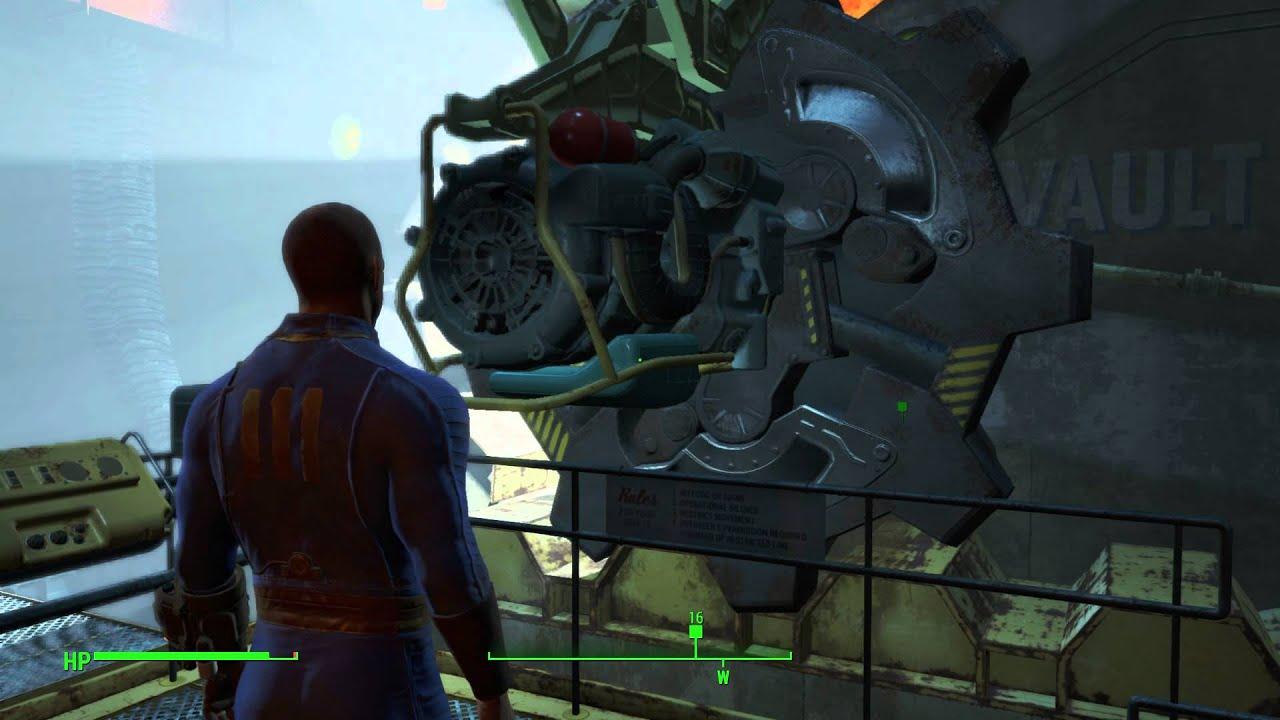 Fallout Vault Door fallout 4 - out of time: sole survivor opens vault 111's door pip