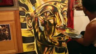 "Egyptian Art Painting ""King Tut"""